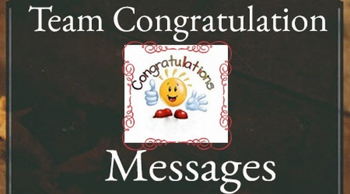 Team Congratulations Messages