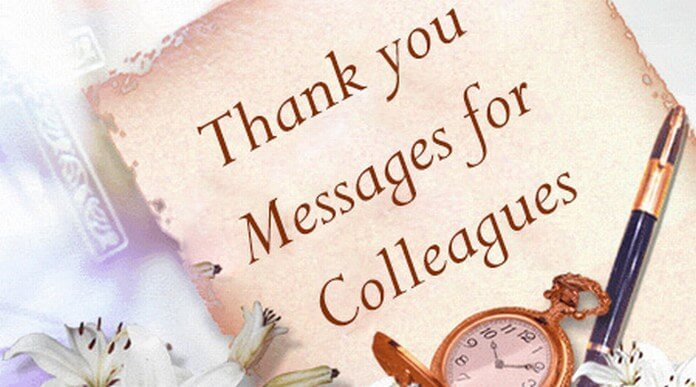 Thank you Messages for Colleagues