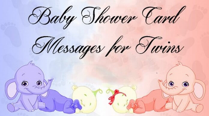 Cute Baby Shower Card Messages for Twins