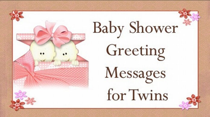 Baby Shower Greeting Messages for Twins