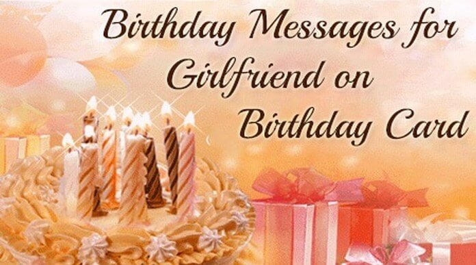 Birthday Messages For Girlfriend On Birthday Card