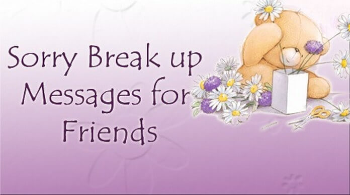 Sorry Break up Messages for Friends