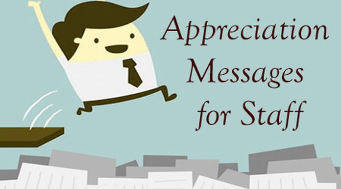 appreciation messages for staff
