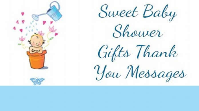 Sweet Baby Shower Gifts Thank You Messages
