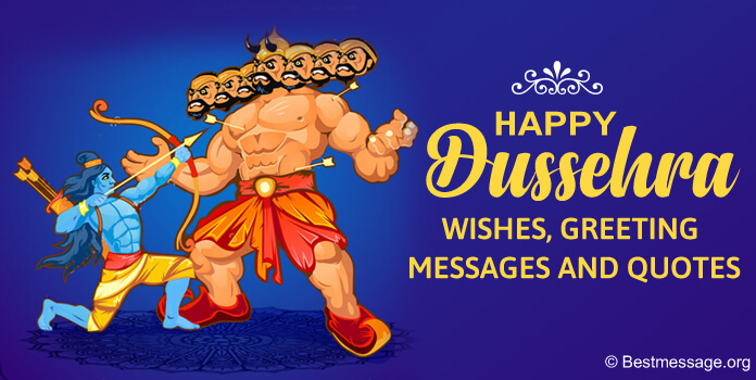 Happy Dussehra Messages, Dasara wishes