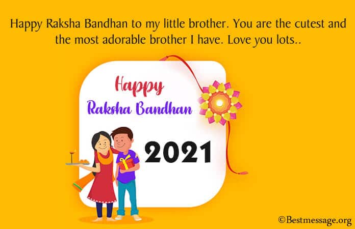 Raksha Bandhan Wishes Quotes for Brother, Rakhi Messages Image