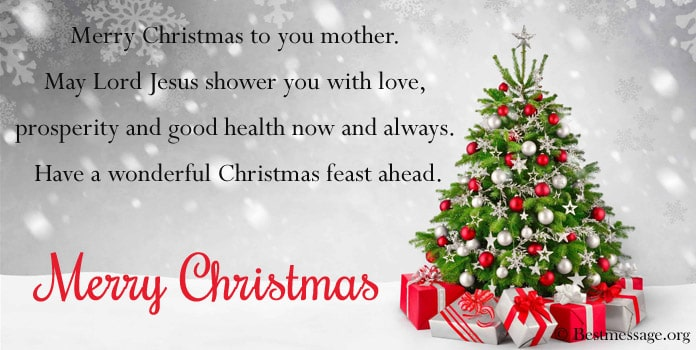 Christmas Card Messages Wishes Mother