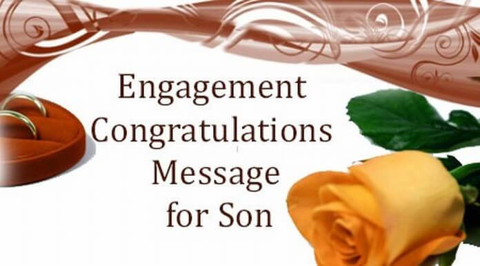 Engagement Congratulations Message for Son