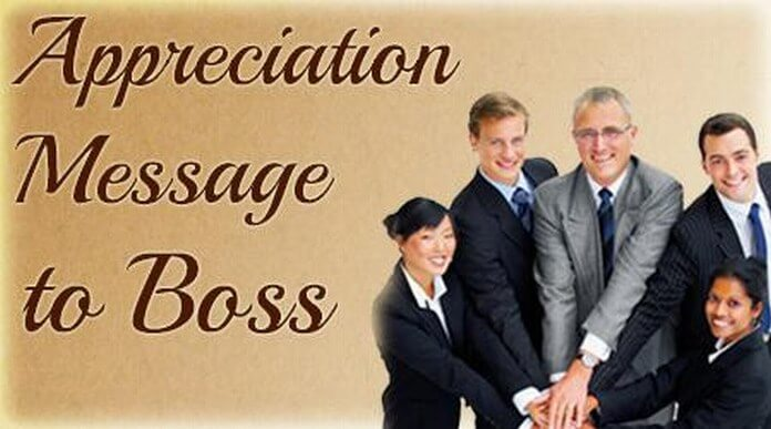 Appreciation Messages for Boss