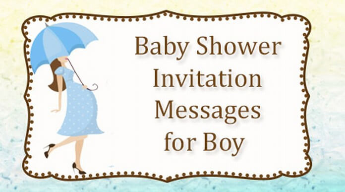 Cute Baby Shower Invitation Messages for Boy