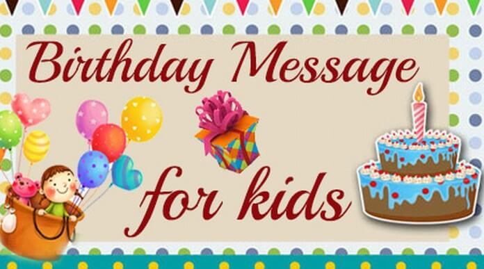 Birthday Message for Kids