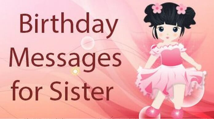Birthday Message to Sister