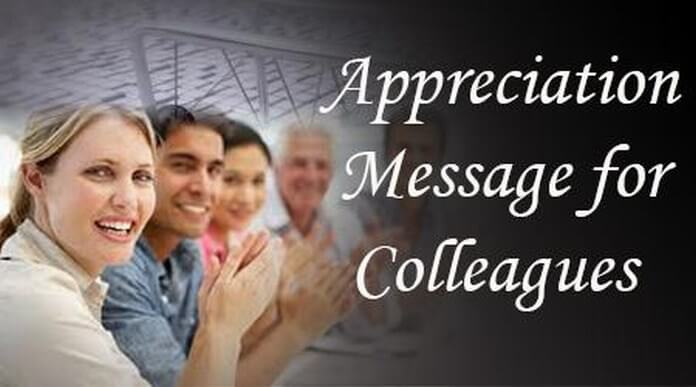 Appreciation Messages to Colleagues