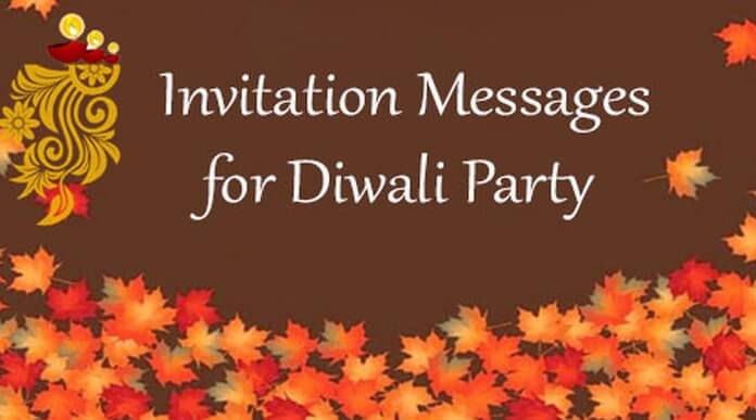 Invitation Messages for Diwali Party