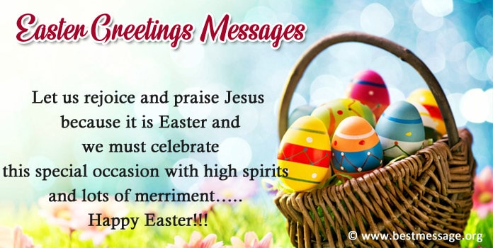 Easter Greetings Messages Image, Photo