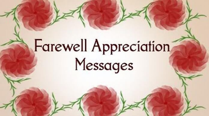 Farewell Appreciation Messages