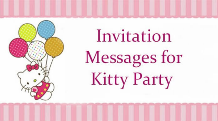 Invitation Messages Kitty Party
