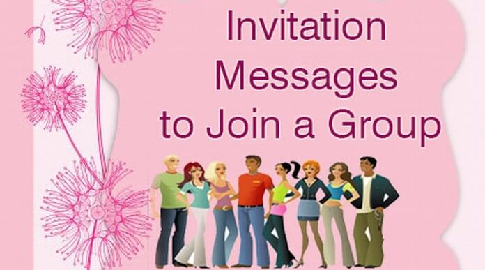 Invitation Messages to Join a Group, Group Message Sample
