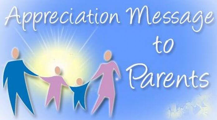 Appreciation Messages to Parents