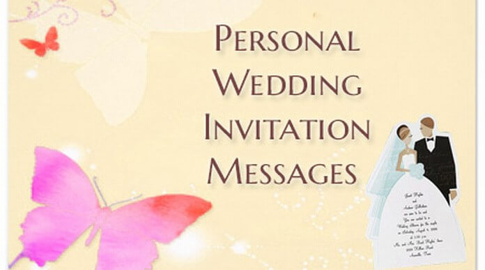 Personal wedding invitation messages wedding invite text stopboris Choice Image