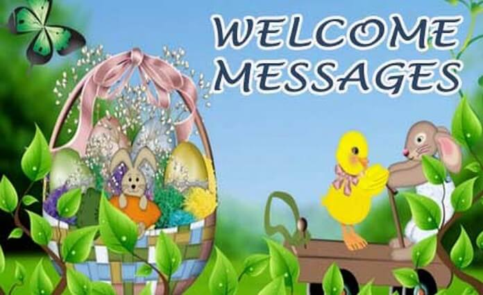 Sample Of Welcome Message‎