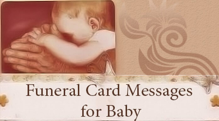 Funeral Card Messages for Baby