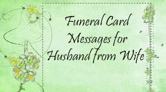 Funeral Card Messages from Husband for Wife
