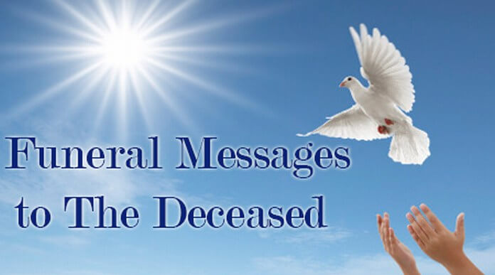 funeral messages to the deceased
