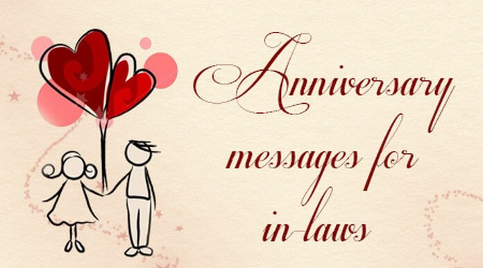 samples of happy anniversary messages for in laws