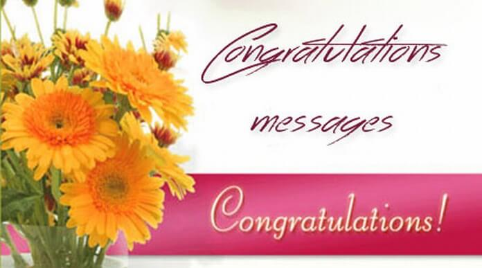 sample congratulations text messages