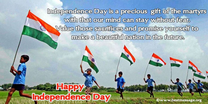 Indian Independence Day Greetings Messages Image