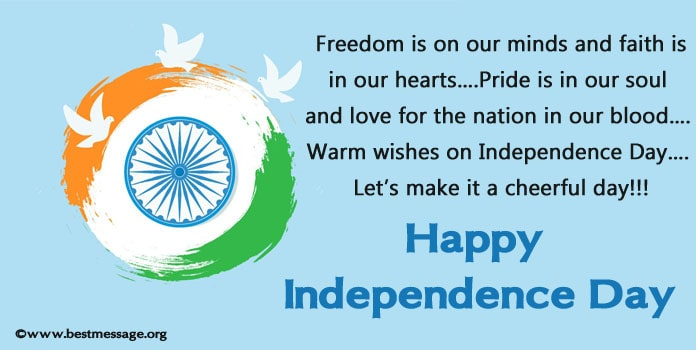 Indian Independence Day Messages, 15 August Wishes and