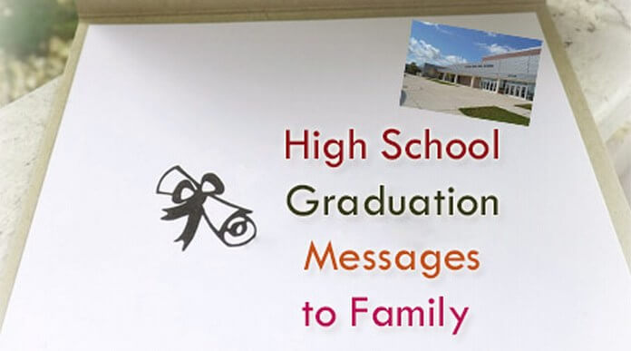 High school graduation messages to family