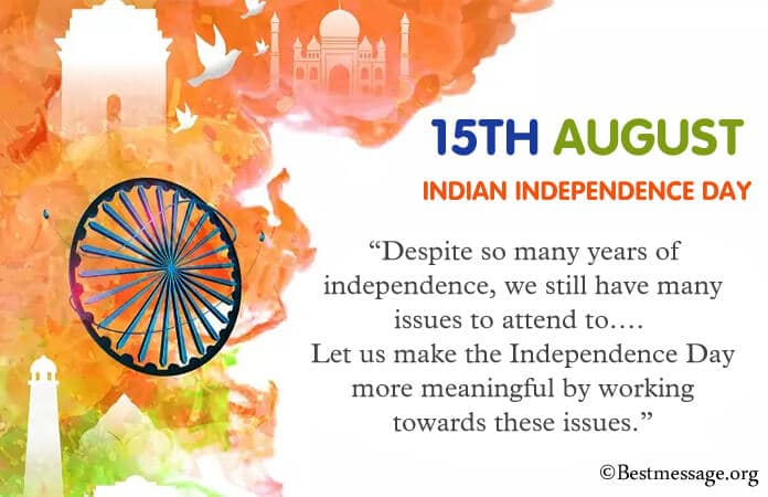 Happy Indian Independence Day Messages, best independence day wishes