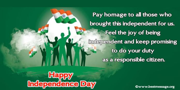 Happy Independence Day Image Messages, 15 August Wishes