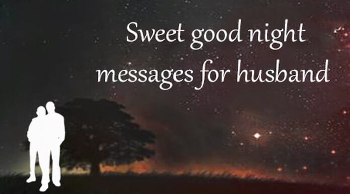 Sweet Good Night Message for Husband