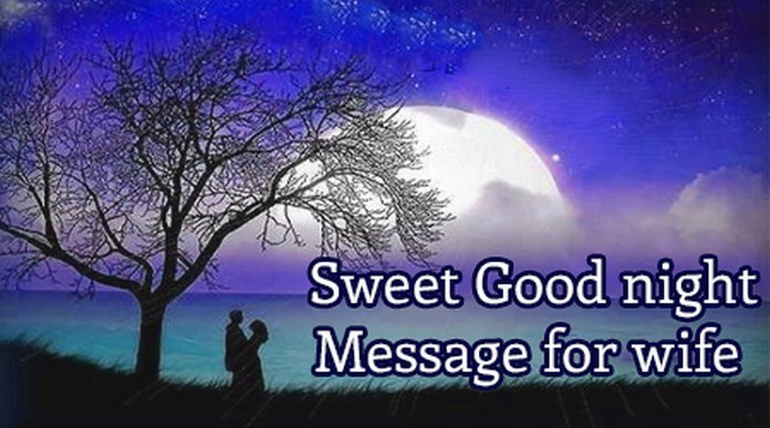 Sweet Good Night Text Message for Wife