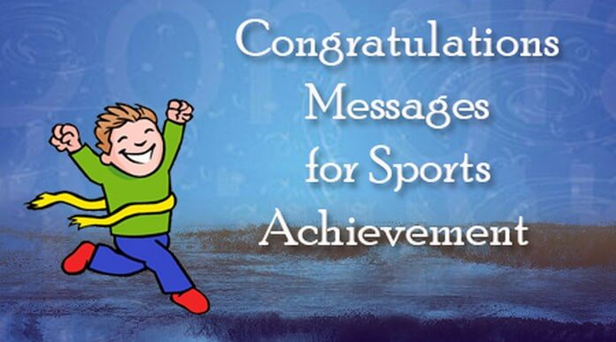 Congratulations Messages for Sports Achievement