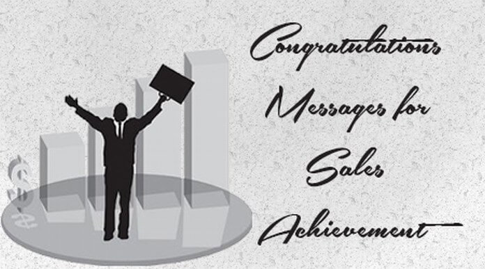 Congratulations Messages for Sales Achievement