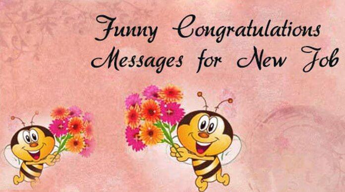 funny congratulations messages for new job