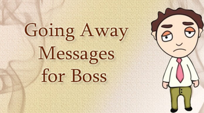 Going Away Messages for Boss