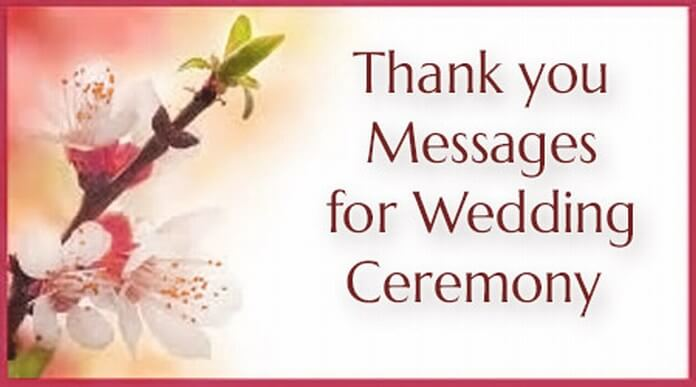 Thank you Messages for Wedding Ceremony