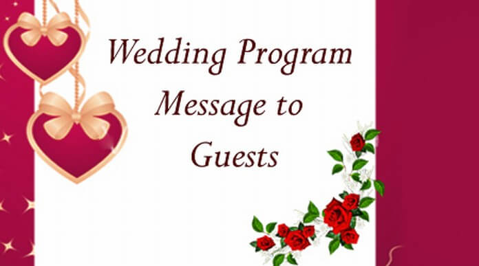 Wedding Program Message to Guests