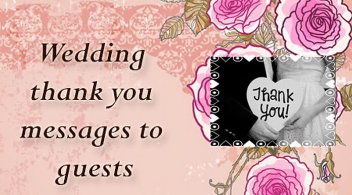 Wedding thank you messages to guests