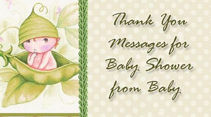 Thank You Messages for Baby Shower from Baby