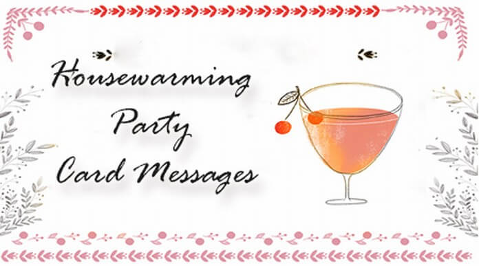 Housewarming party card messages
