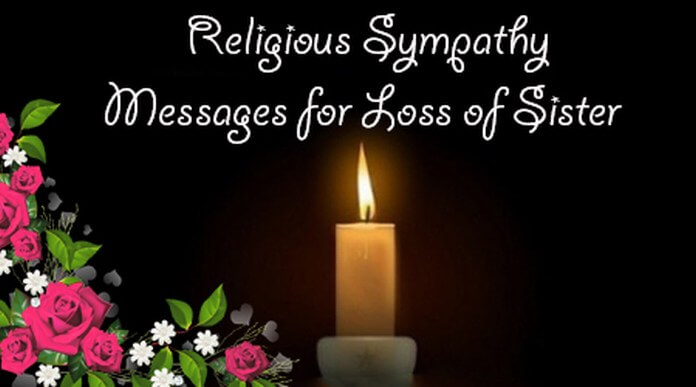 Religious Sympathy Message for Loss of Sister