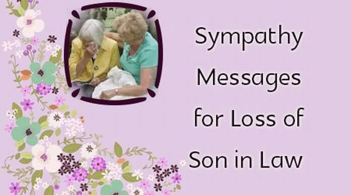 sympathy messages for loss of son in law