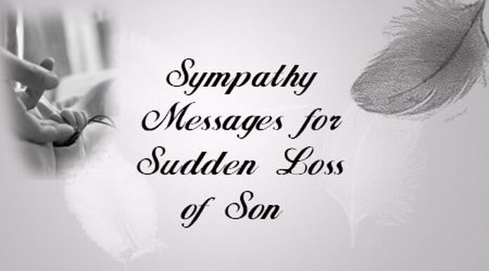 sympathy message sudden loss sonjpg