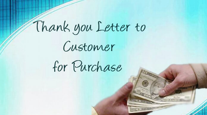Thank you Letter to Customer for Purchase